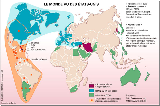 Carte Du Monde Vu Des Etats Unis   popkensburg